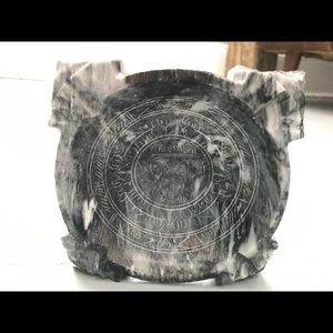 Hand carved marble stone Mayan design ashtray
